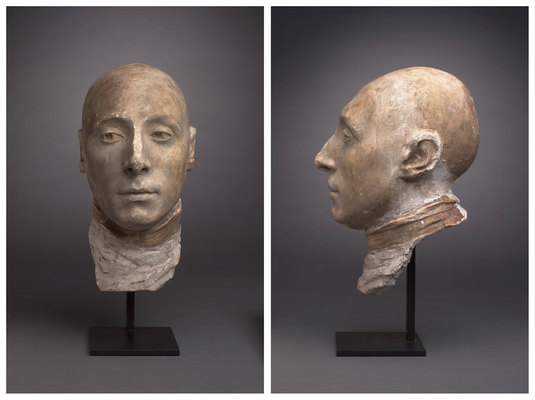 Life mask of the marquis de lafayette by jean antoine